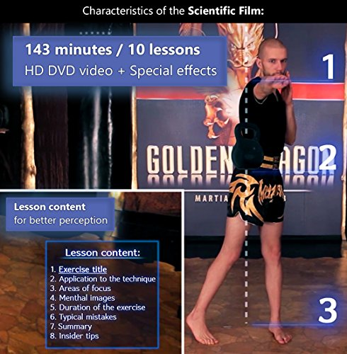Kickboxing DVDs workout for women men 47 minutes - and Instructional kickbox Muay Thai video training 10 lessons 143 minutes - Cardio exercise - Way of The Warrior Step 1 Base technique - 2 in 1 6
