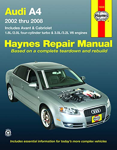 Audi A4 (02-08) Haynes Repair Manual (Does not include information specific to diesel engine, S4 or RS4 model information. Includes thorough vehicle coverage apart from the specific exclusion noted)