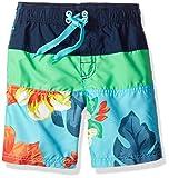 Kanu Surf Little Boys' Koloa Panel Swim Trunk, Aqua, Medium (5/6)