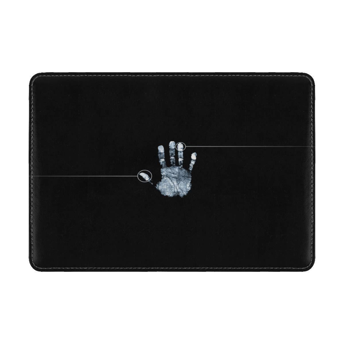Fingerprint Hand Black White Leather Passport Holder Cover Case Travel One Pocket