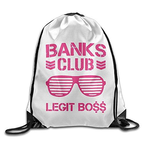 Unisex Sasha Banks Club Legit Boss Sports Drawstring Backpack Bag