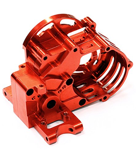 Integy RC Model Hop-ups T7879RED IFA Billet Machined Gear Box for Traxxas 1/10 Slash ()