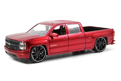 Custom Chevy Silverado >> Amazon Com Jada 2014 Chevy Silverado Custom Edition Just Truck
