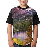 Rocky Mountains Colorado Beautiful Scenery Tee Jersey T Shirt Youth Baseball Tshirt Girls Boys