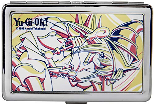 Buckle-Down Business Card Holder - YU-GI-OH! Dark Magician Girl Pose White/Yellow/Pink - Large