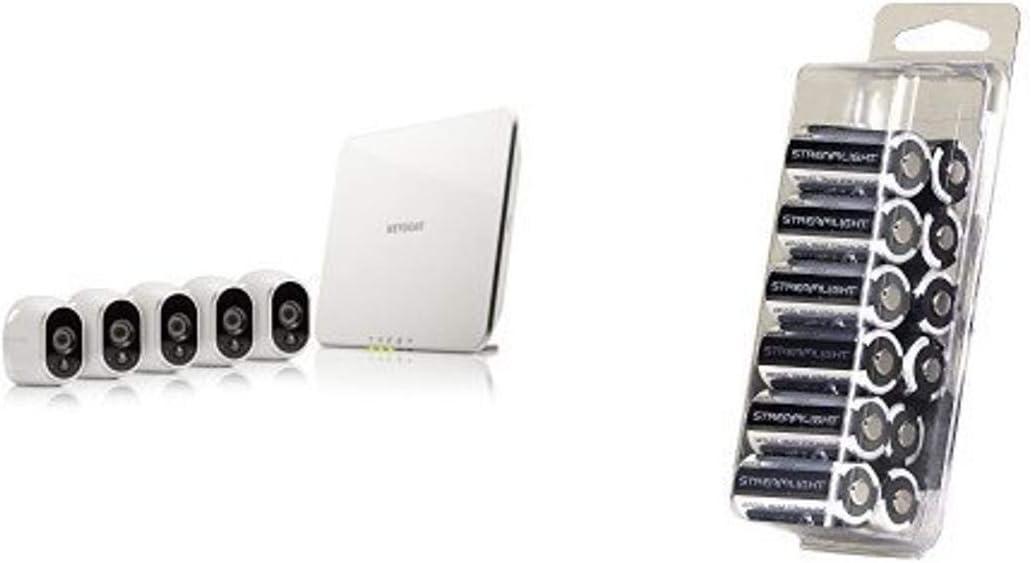 Arlo Wireless 5 Camera Security System w/ Streamlight Batteries
