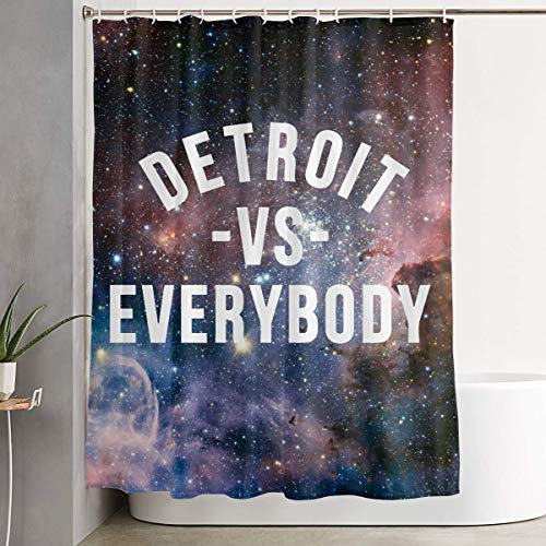 MAHENSHANGM Detroit VS Everybody Shower Curtain Bathroom Decor Set 66 X 72 inch Curtains Bath Set -