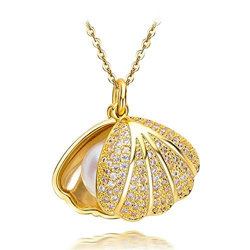 SuperLouisa Fashion shell necklace design,Pearl Pendant,sterling silver pendant