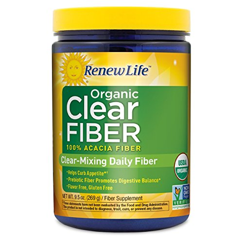 Renew Life Organic Clear Fiber, (Natural Clear Mixing Powder)