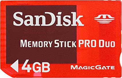 SanDisk SDMSG-004G-B46 4 GB Pro Duo Gaming Memory Stick for Playstation PSP