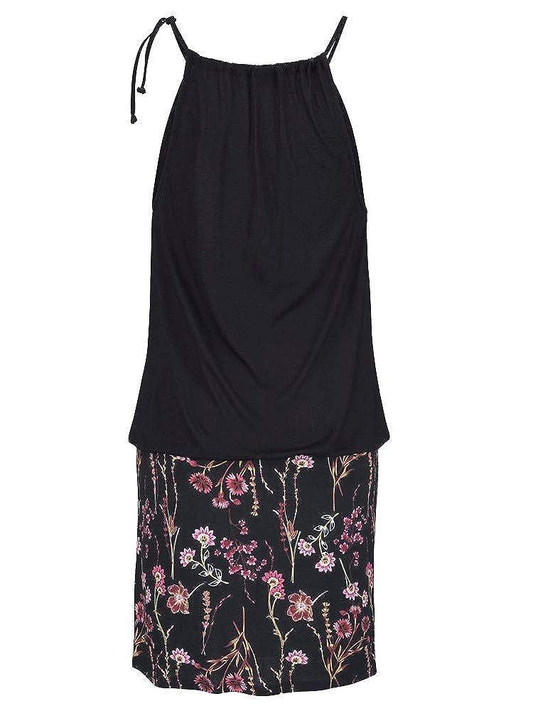 HTDBKDBK Summer Dresses for Women,Retro Casual Sleeveless Print Beach Mini Dress Beach Dress Sling Mini Skirt Dress
