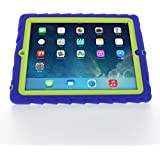 Apple iPad 2 iPad 3 iPad 4 Blue Gumdrop Cases Silicone Rugged Shock Absorbing Protective Dual Layer Cover Case