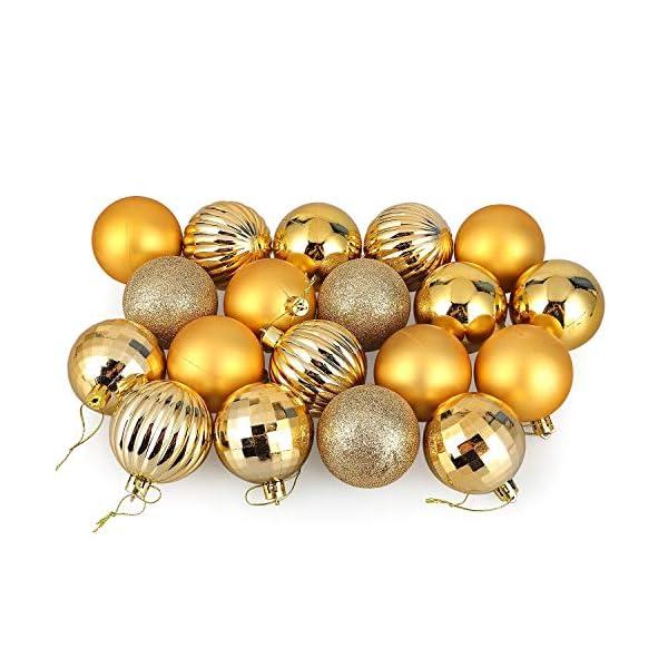 himaly 32 Pezzi Tradizionale Rosso e Oro Accessori per la Decorazione Palle di Natale Anti Goccia con Imbracatura,Adatto per Natale, Matrimonio, Fidanzamento, Anniversario, Festa 4 spesavip