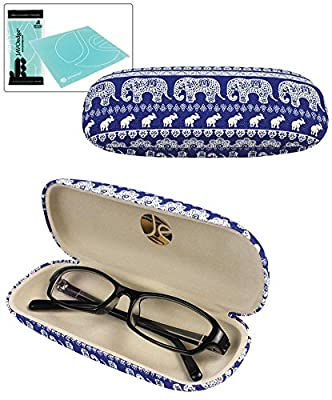 JAVOedge Elephant Print Eyeglass Case