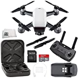 DJI Spark Quadcopter (Alpine White) + DJI Spark Remote Starter Bundle