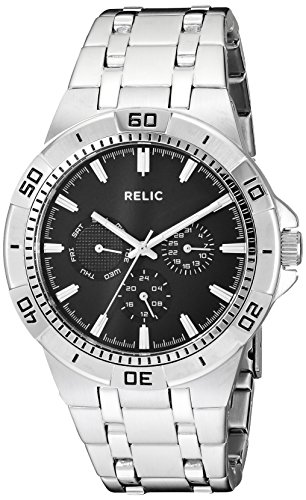 (Relic by Fossil Men's Garrett Quartz Stainless Steel Sport Watch, Color: Silver (Model:)