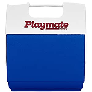 Igloo Playmate Pal 7 Quart Personal Sized Cooler (Ocean Blue/White, 11.75 x 8.25 x 13-Inch)