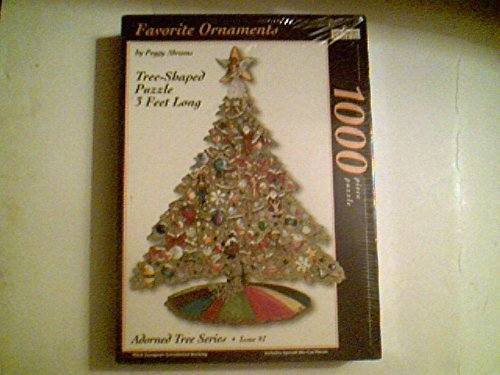 (Favorite Ornaments by Peggy Abrams Tree-Shaped Puzzle Adorned Tree Series 1000)