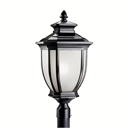 Kichler 9940bk salisbury outdoor post mount 1 light black