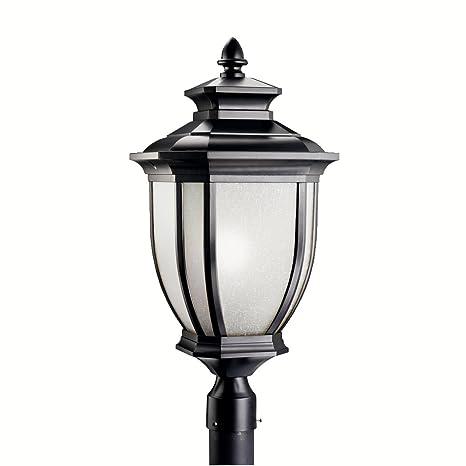Kichler 9940BK, Salisbury Aluminum Outdoor Post Lighting, 200 Total Watts,  Black (Painted)   Lamp Post Light   Amazon.com