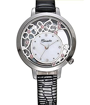 Gretchen watch female students Korean minimalist leather waterproof waterproof hollow trend diamond pearl quartz