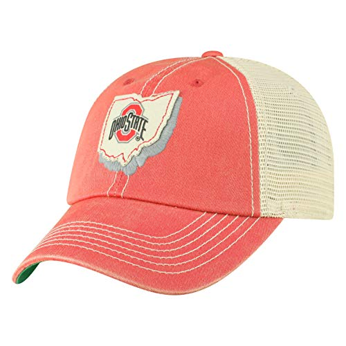 Top of the World Ohio State Buckeyes Men's Mesh-Back Hat Icon, Red, Adjustable
