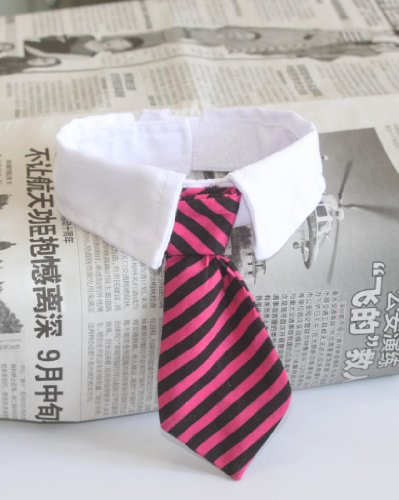 Namsan Twill Cotton Tie Small Dogs Cats Puppy Tie Neck Tie -Red/Black (Doggy Clothing)