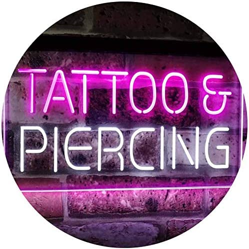 ADV PRO Tattoo Piercing Get Inked Shop Open Dual Color LED Barlicht Neonlicht Lichtwerbung Neon Sign Blau /& Rot 400 x 300mm st6s43-i2484-br