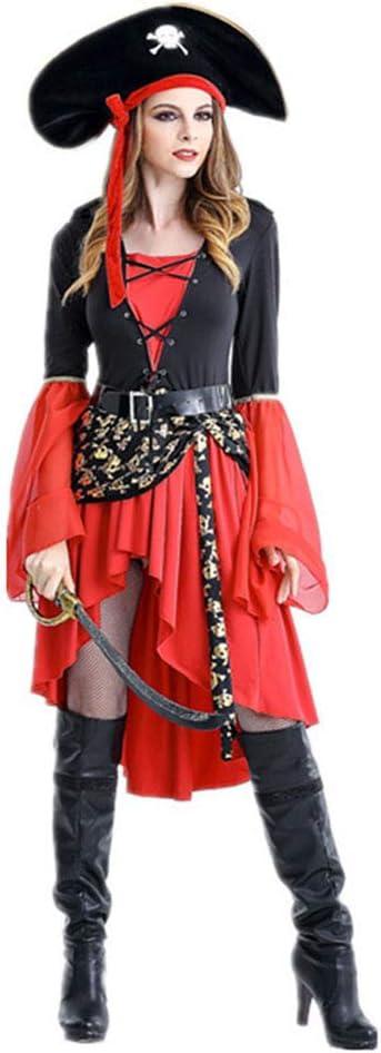 Mars Jun Mujeres Disfraz de Pirata -Carnaval Disfraz Cosplay ...