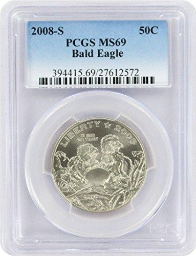 2008 S Bald Eagle Commemorative Half MS69 PCGS