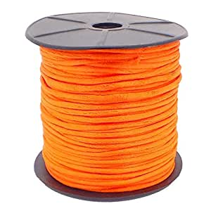 10M Orange Silky Rattail Cord 2mm. Kumihimo / Shamballa / Knotting / Macrame / Bracelet Cord / Beading Cord / Braiding / Jewellery Making Cord. by The Little Button Shop Buttons