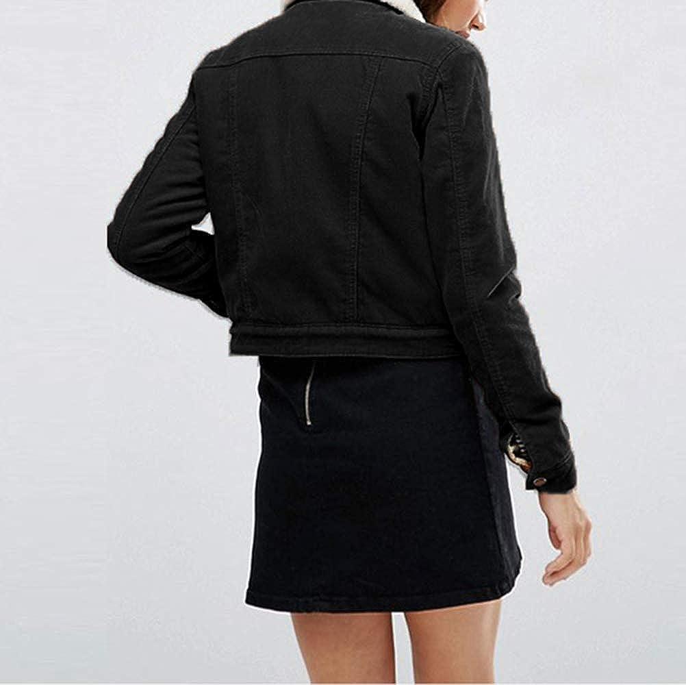 Vero Viva Womens Single Button Lapel Corduroy Solid Jacket Coat with Pockets