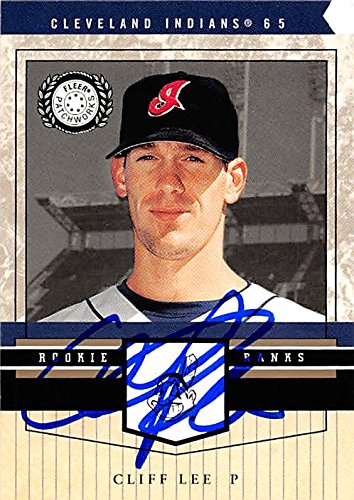 Autograph 157520 Cleveland Indians Ft 2003 Fleer Patchworks Rookie Ranks No. 114 Cliff Lee Autographed Baseball Card