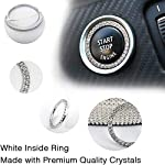 Lifetooler Car Wheel Guards with Bling Bling Rhinestones Soft PU-Leather Crystal Steering Wheel Cover Breathable Anti…