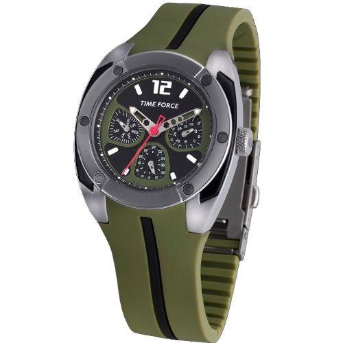 TIME FORCE Reloj De Pulsera Tf-2947B07 Cadete Multifuncion Verde: Amazon.es: Relojes