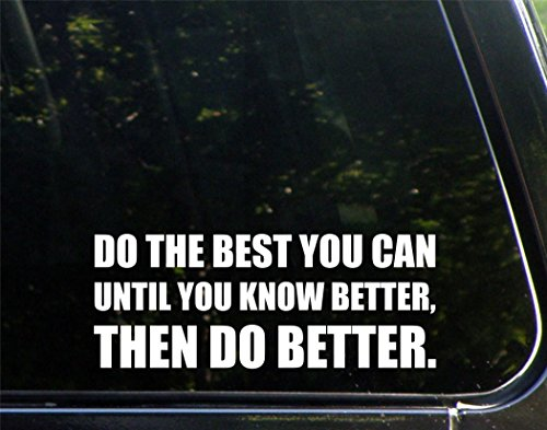 Do The Best You Can Until You Know Better  Then Do Better   8 3 4  X 3 1 2   Die Cut Decal Bumper Sticker For Windows  Cars  Trucks  Laptops  Etc