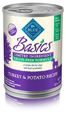 BLUE Basics Limited Ingredient Diet Adult Grain Free Turkey & Potato  Wet Dog Food 12.5-oz (Pack of 12) (Buffalo Turkey)