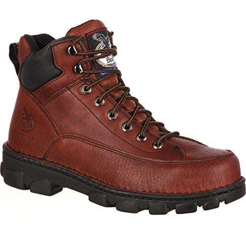 Georgia Men's Eagle Light-M Comp Toe Work Boot, Soggy Brown, 9.5 M - Eagle Leather Boot