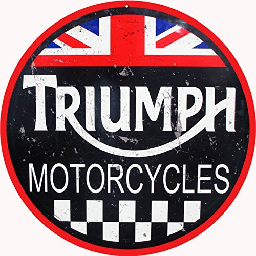 Victory Vintage Signs Reproduction Triumph Motorcycles Sign 14 ()
