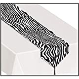 Kitchen & Housewares : 3 X Printed Zebra Print Table Runner Party Accessory (1 count) (1/Pkg)