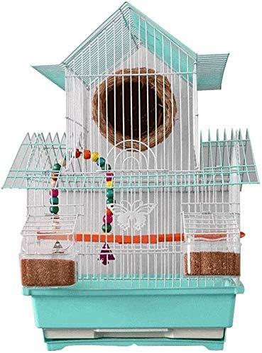 AYCPG Jaula de pájaro Jaula de pájaro Tigre Loro Pigeon Jaula Villa Jaula Cachorro pájaro Perla Jaula cría Jaula portátil pájaro pequeño tamaño Aves Viajes Jaula Mascota casa Mascota casa lucar