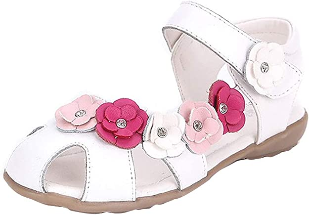 Sandales Fille Mode Sandales pour Enfant D/ét/é Fleur B/éb/é Chaussures De Anti-Slip Princesse Chaussures pour Petits Enfants Filles 2-14 Ans