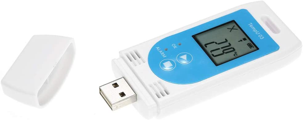 Zitainn Registrador de temperatura y humedad registrador de datos de temperatura y humedad USB Registrador de datos reutilizable Registrador Medidor con capacidad de 12,000 registros