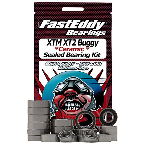 (XTM XT2 Buggy Ceramic Rubber Sealed Ball Bearing Kit for RC Cars)