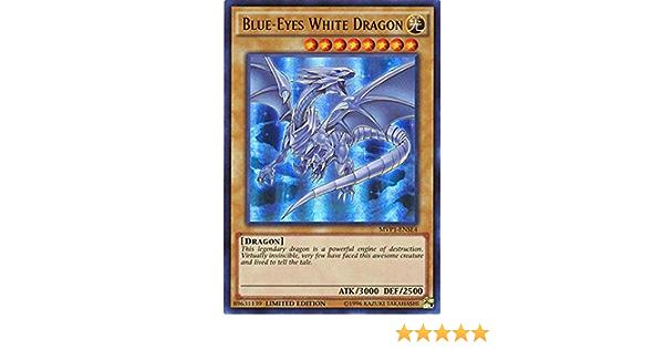YUGIOH BLUE-EYES WHITE DRAGON MVP1-ENSE4 ULTRA X3