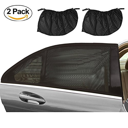 Buggy Sun Protection - Universal Car Sun Shades Covers, fengus 2 Pack Large Size(12652CM)Rear Side Window Baby Sun Shade Blinds Mesh Visor Provides Maximum UV Rays Protection for Infants, Children, and Pets ,Fits Most Cars