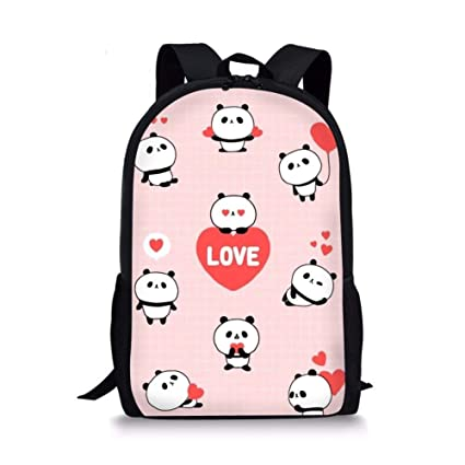Image Unavailable. Image not available for. Color  Anime School Backpack Kid  Panda Personalized Book Bags ... 436918347646b