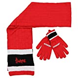 Nebraska Huskers Winter Scarf & Glove Set One Size OSFA - Red