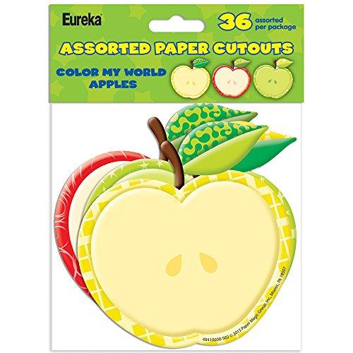Eureka Color My World Apples Asst. Paper Cut Outs -