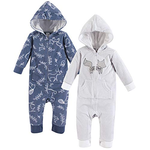 (Yoga Sprout Unisex Baby Jumpsuit, Forest Fleece Coverall 2-Pack, 12-18 Months (18M))